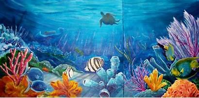 Ocean Scenes Underwater Fish Under Google Water