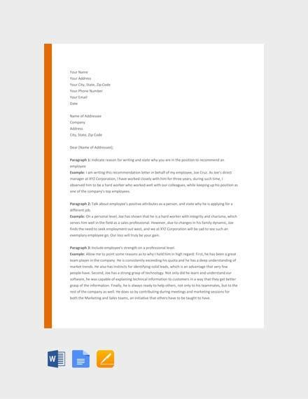 Free Recommendation Letter Sle by 9 Sle Recommendation Letters Doc Pdf