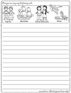 write your own story thanksgiving theme pilgrims turkey mayflower americans