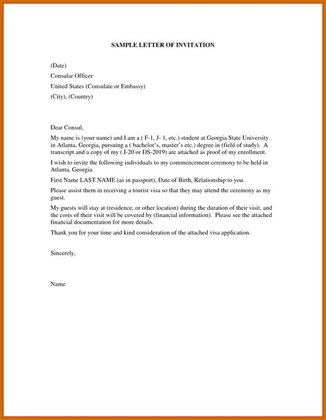 invitation letter  usa freshproposal