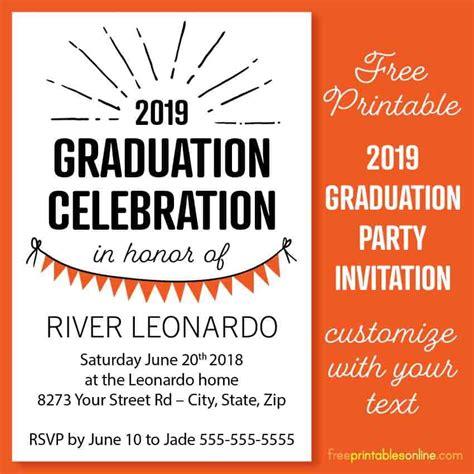 2019 4x6 Graduation Party Invitation Templates Free