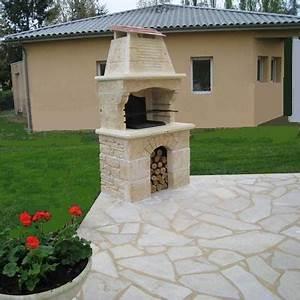 barbecue fixe plan With construire un foyer exterieur en pierre