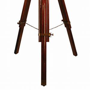 ledbury brown wooden tripod floor lamp cream shade With tripod floor lamp wooden legs