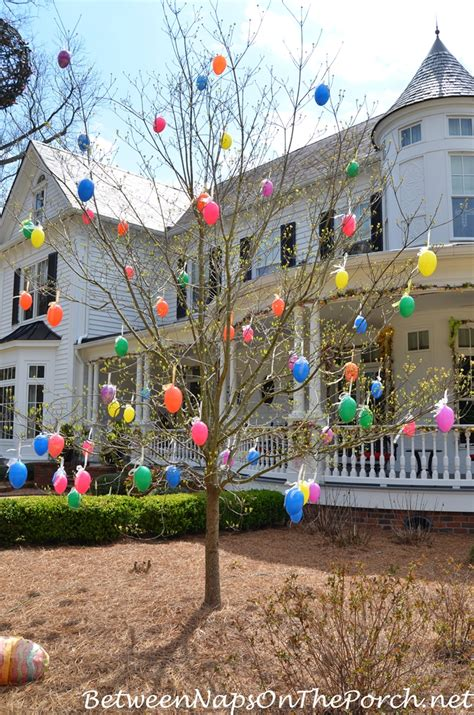 tree yard decorations decorate outdoors for easter 5415