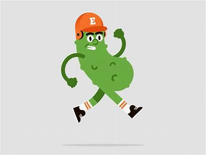 Pickle Dribbble Gifs Pickles Animated Funny Running