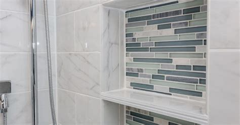 arleystone bliss linear  waterfall mosaic tile accents