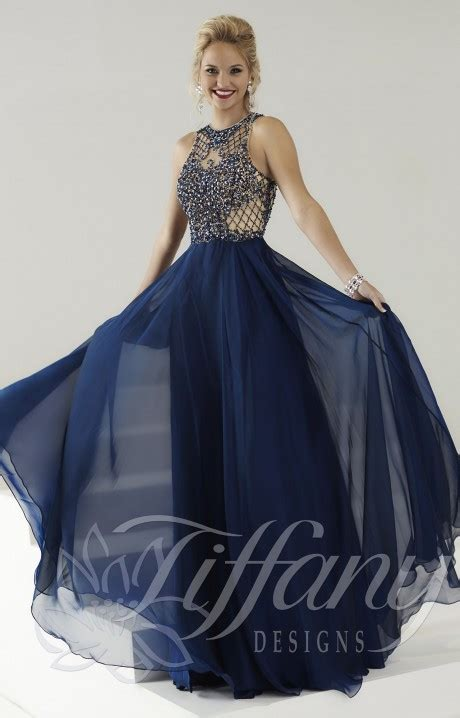 tiffany designs       gown prom dress