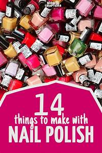 14 cool and functional nail polish crafts! These quick and