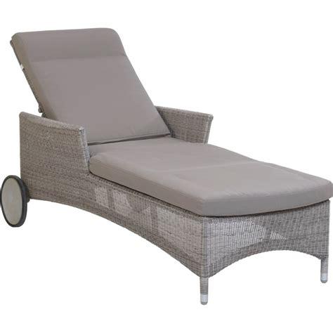 galet de chaise chaise longue de jardin en résine couleur galet atoll
