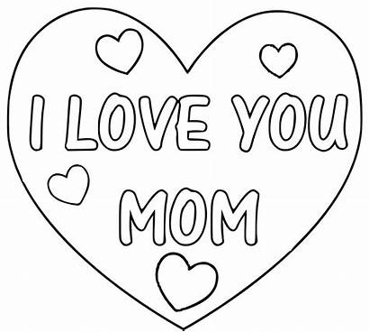 Coloring Mom Pages Valentines Valentine Mother Clipart