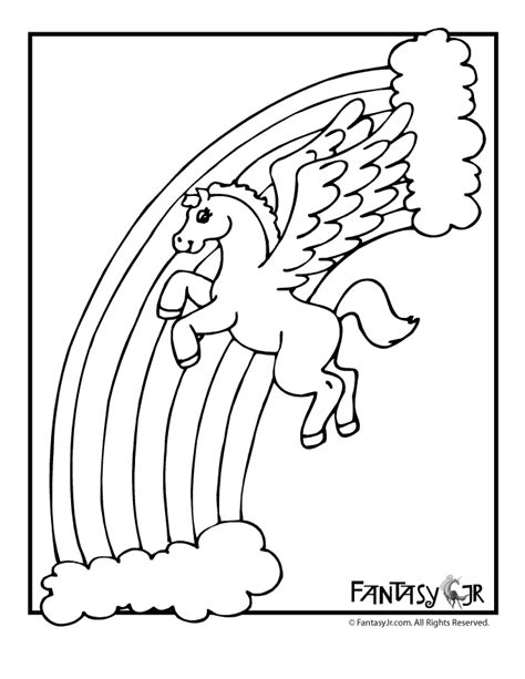 unicorn  rainbow coloring page coloring pages