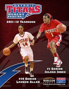 2011-12 Detroit Titans Women's Basketball Yearbook by P.J ...