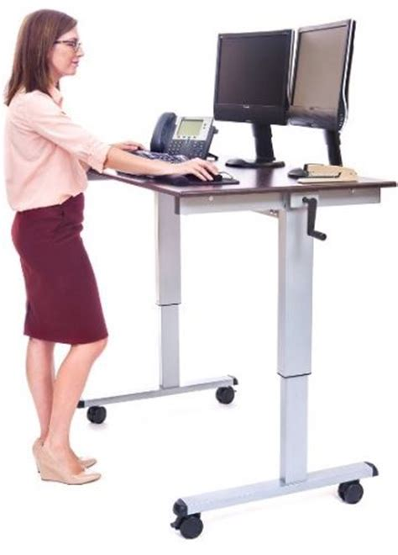 Luxor Crank Adjustable Standing Desk by Reviews Of The Best Height Adjustable Standing Desks 2017 2018