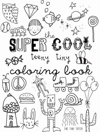 Coloring Printable Mini Pages Books Tiny Colouring