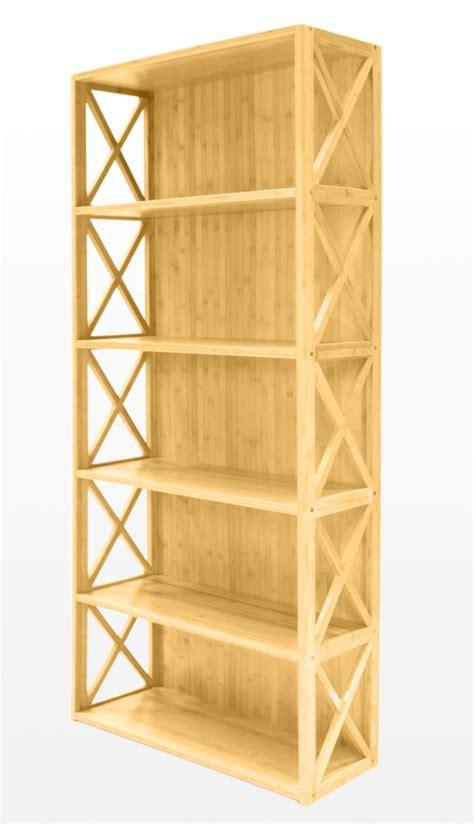 bamboo 5 shelf bookcase bookcase 5 book shelves bamboo furniture