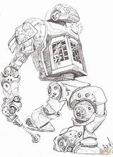 Robot Coloring Robots Drawing Policeman Dog Sheriff Printable Pencil Drawings Puzzle Games Crafts Pixabay Paper Getdrawings Paintingvalley Character Future Supercoloring sketch template