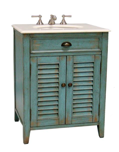 26 Inch Bathroom Vanity Cottage Beach Style Distressed
