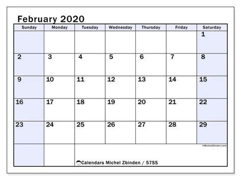 calendar february  ss michel zbinden en