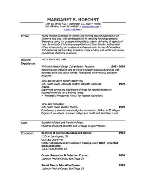 Resume Ms Word File by Resume Outline Microsoft Word Resume Outline Word Document Outline Template