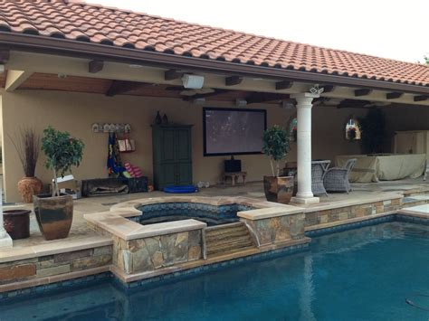 outdoor home audio tv and sound system