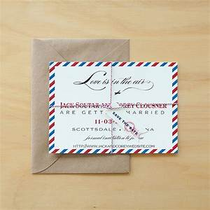 vintage air mail save the date air mail wedding With when should destination wedding invitations be mailed