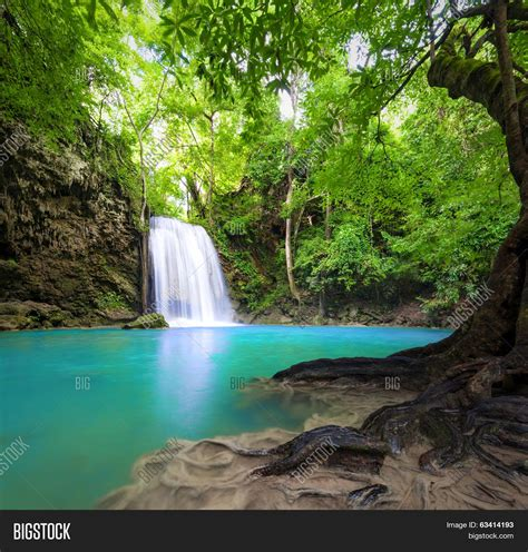 Cool Waterfall Background by Waterfall Landscape Background Image Photo Bigstock