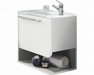 Meuble Largeur 50 Cm : meuble sous vasque marlin bad 3010 blanc mont largeur 50 cm brillant acheter sur ~ Melissatoandfro.com Idées de Décoration