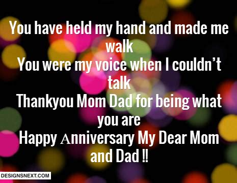 Happy Anniversary Mom And Dad Short Quotes