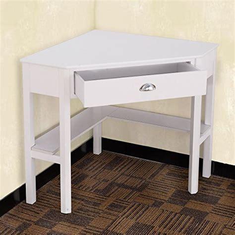 tangkula corner desk corner computer desk wood compact