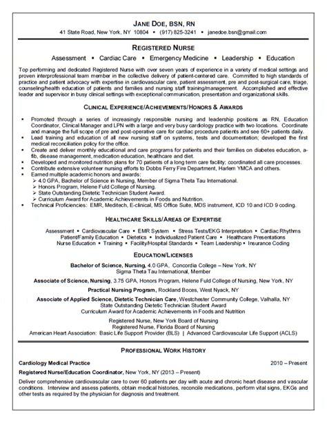 registered resume