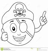 Coloring Pirate Eye Patch Hat Smiley Skull Cartoon Character Happy Eyes Illustration Patches Printables sketch template