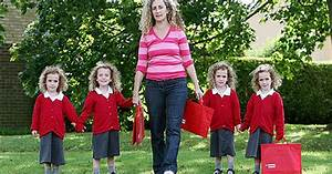 Identical quads share first day at school - Mirror Online
