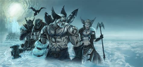 norse gods wall painting by alanstain on deviantart