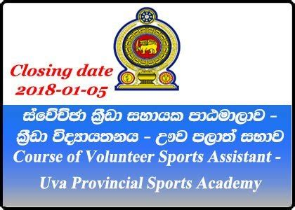 volunteer sports assistant uva provincial