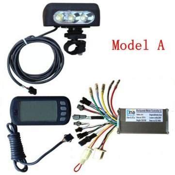 24v36v48v250w350w motor brushless controller lcd display front light for e bike bicycle mtb