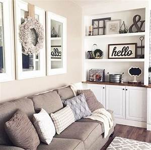 Best 25 neutral couch ideas on pinterest neutral living for Best brand of paint for kitchen cabinets with mirrored wall art decor