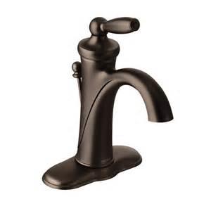 moen brantford kitchen faucet rubbed bronze brantford rubbed bronze one handle high arc bathroom faucet 6600orb moen