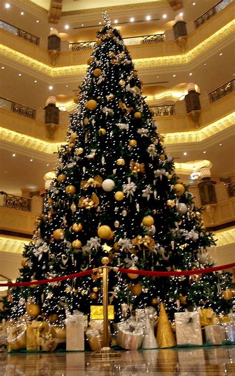 christmas trees decorated ornamentality luxury