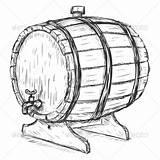 Barrel Wine Clipart Sketch Wooden Vector Barrels Illustration Clip Faucet Drawing Man Cartoon Brewers Beer Shutterstock Keg Cask Graphicriver Coloring sketch template