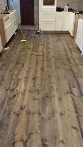 This is rustic 1x8 pine flooring stained with minwax for Pine floors stained dark