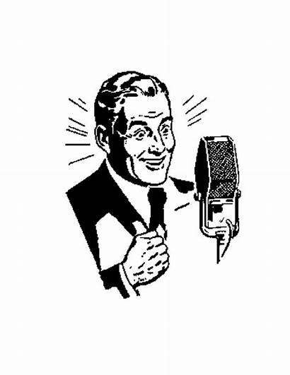 Clip Clipart Dj Microphone Drawing Retro Vector
