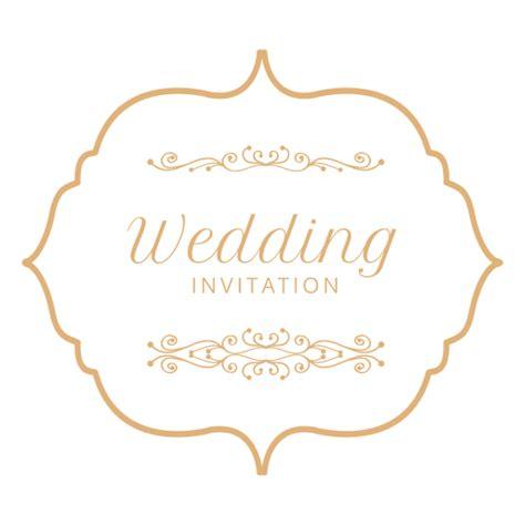 wedding invitation logo   clip art