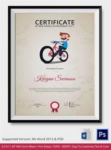Certificates Of Appreciation Templates For Word Bike Riding Certificate Template 4 Free Word Pdf