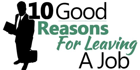 10 reasons for leaving a