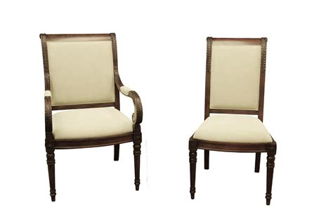 New French Style Upholstered Dining Room Chairs Stain