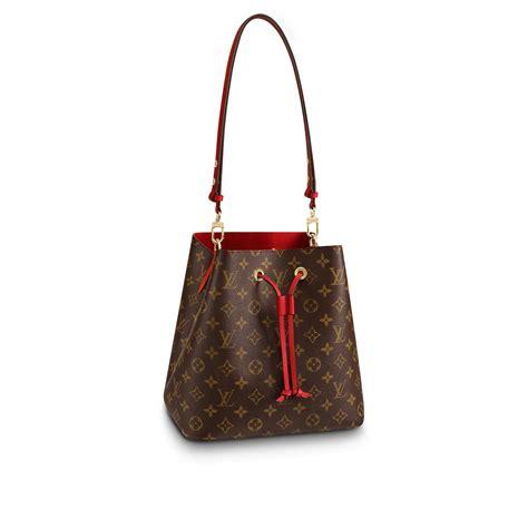luxury monogram canvas  leather handbag neonoe louis vuitton