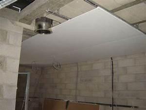 Faire Un Faux Plafond : faux plafond sur plafond platre maison travaux ~ Premium-room.com Idées de Décoration