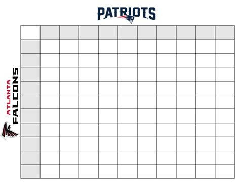 Printable Superbowl Squares Template by Printable Superbowl Squares Carisoprodolpharm