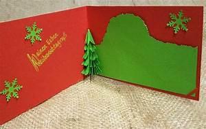 Pop Up Karte Weihnachten : 3d pop up karte mit tannenbaum f r weihnachten selber basteln ~ Buech-reservation.com Haus und Dekorationen