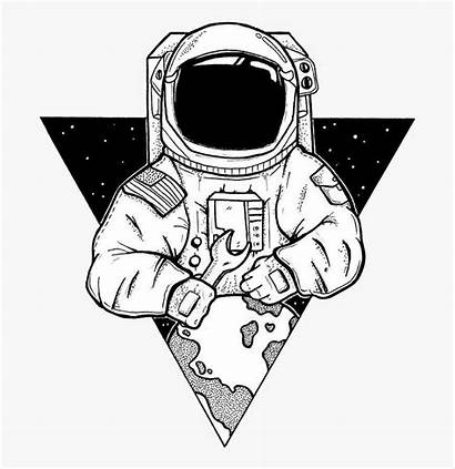 Astronaut Transparent Clipart Artwork Minimalist Space Astonaut